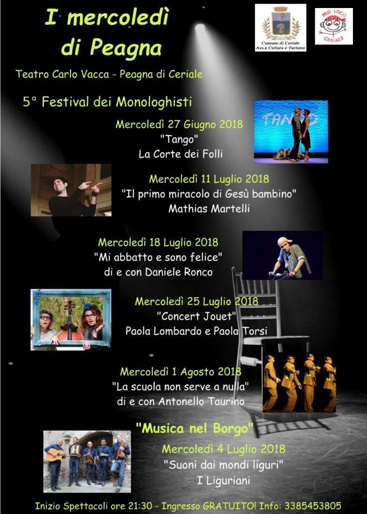 I mercoledì di Peagna @ Teatro Carlo Vacca | Peagna | Liguria | Italia